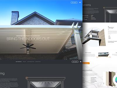 Arcadia Website Design construction identity creative typography layout grid flat ui website ux ui web design web