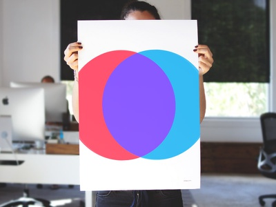 Opacity Print Design typography simple bright bold minimal poster colorful print