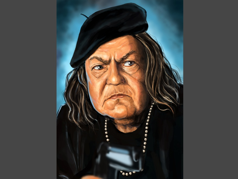 Mama Fratelli portrait digital paintings 80s