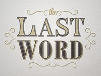 The Last Word Logotype v4