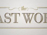 The Last Word Logotype v5