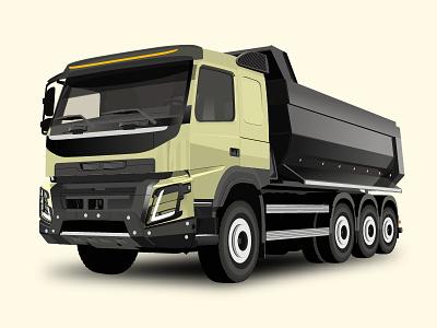 Truck illustration 2d truck