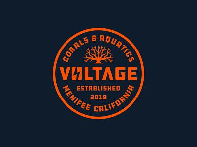 Voltage Coral Badge branding reef coral reef logo design ocean logo ocean logo corals coral