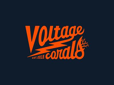 Voltage Coral Script logodesign script design ocean logo script lettering type design coral coral logo