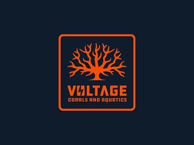 Voltage Corals coral reef ocean logo ocean branding logo design coral
