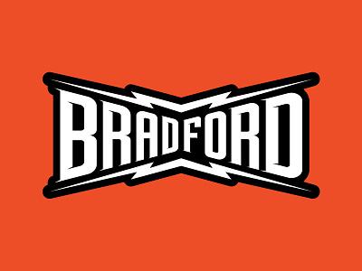Bradford Bolt Type branding goodtype junktype bolt logotype bradford brad lightning typography bolttype typedesign