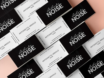 Authentic Noise Business Cards logo branding card business black and white spot uv business cards