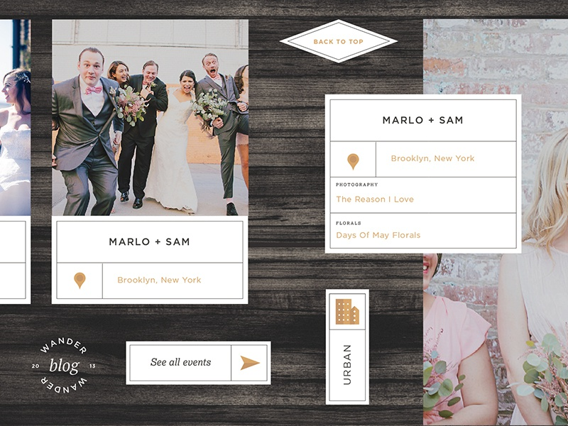 All Who Wander Event Design Website wedding illustration lockup label icon ux website branding