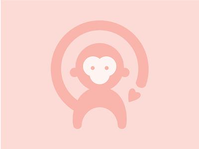 Beryl of Monkeys Logo icon flat vector illustration monkey logo