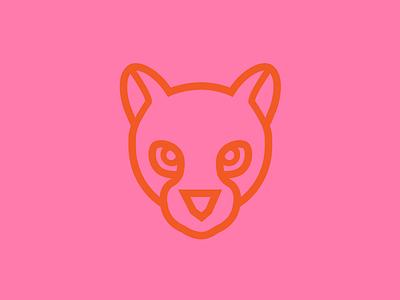 Ocelot Icon pink logo cat iconography illustration ocelot animal icon
