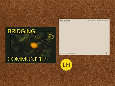 LH bridge monogram design color logo branding design branding