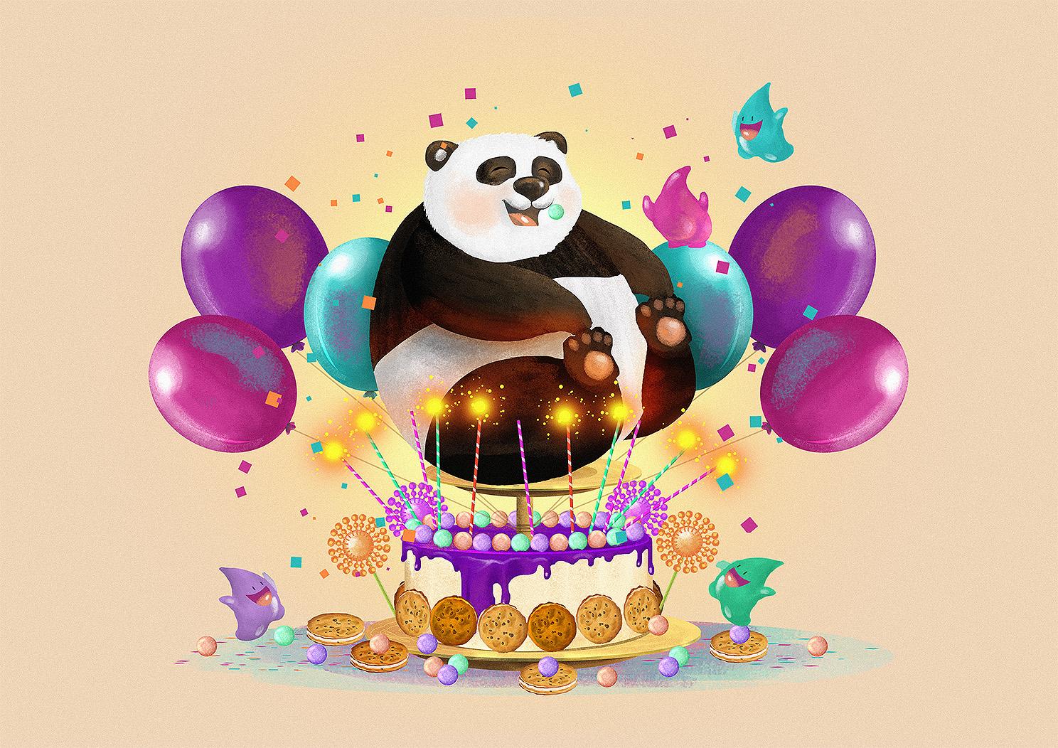 поздравительные открытки с пандами на день рождения самых ближних, относительно