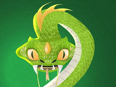 Salazar's Locket poster character design digital picture illustration drawing harrypotter monster magic animal serpent snake