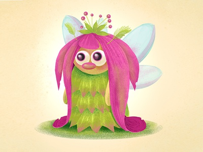 Spring Fairy character design digital painting digital art illustration drawing floral elf flower spring fantasy magic fairy