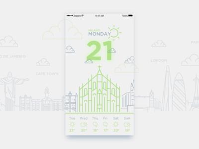 Daily UI #10_Weather Widget