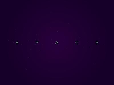 Space Logo space wordmark watermark verbicon typography logotype logo lettering identity flat branding brand