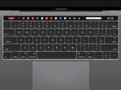 Muzli - Macbook Pro Touch Bar ux ui touchbar muzli pro new macbook design 2016