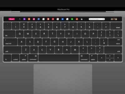 Muzli - Macbook Pro Touch Bar