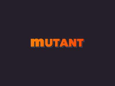Mutant wordmark