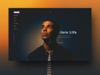 Drake site homepage