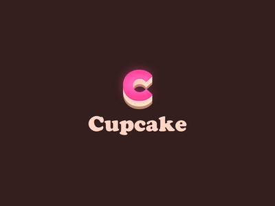 Cupcake Logo tasty sweet wordmark pink bakery cupcake cheesecake cream logo