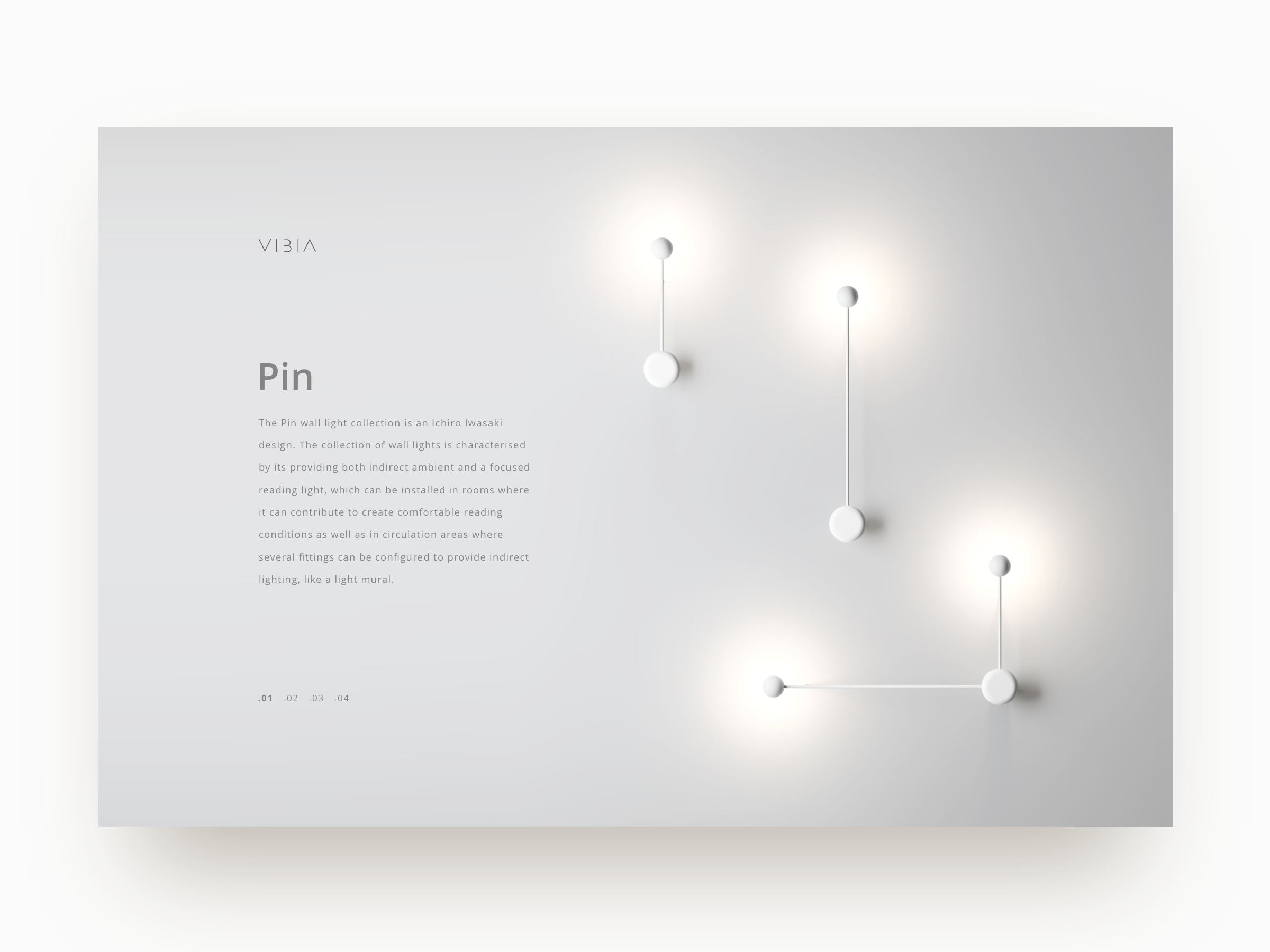 Vibia pin lamp 3x