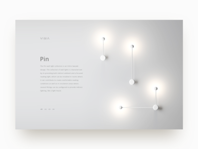Vibia Product - Pin Lamp