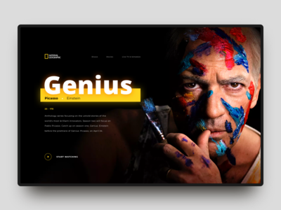 National geographic tv series tv series layout website ux interface art channel trend ui national geographic minimal