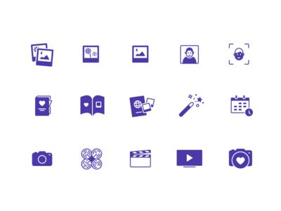 Photograph icons