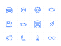 Automotive icons set [opensource]