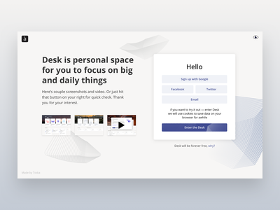 Welcome page toska abstract web landing design open sans landing page task manager landing