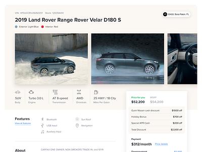 Vehicle page showroom desktop car vehicle