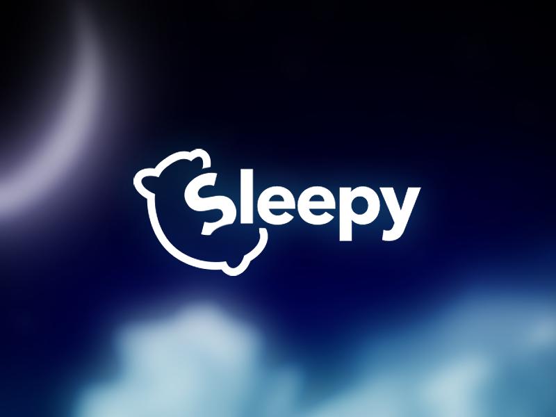 Sleepy Logo dark tilt laying app relax tired pillow night sleep