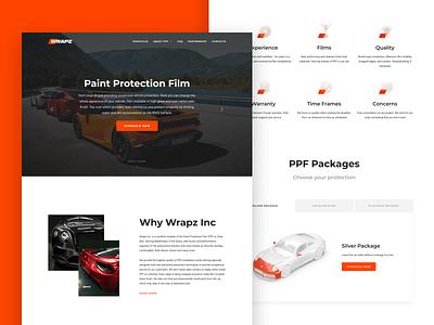 Wrapz Inc. Website 3d bentley rolls royce ferrari porsche auto mainpage protection web site web interface tilda user interface ui web design car landing page wrapz ppf film