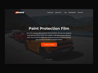 WrapzInc. UI Interaction cinema 4d c4d user interface mainpage lamborghini rolls royce ferrari porsche bentley tilda auto 3d wrapz car protection landing page ui interaction interaction animation web design