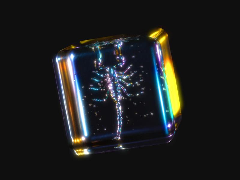 Spectral Scorpion product design dispersion glitch arnold renderer arnold render scorpion spectrum thin film glass colourful 3d design 3d art illustration design c4d42 cinema4d c4d 3d