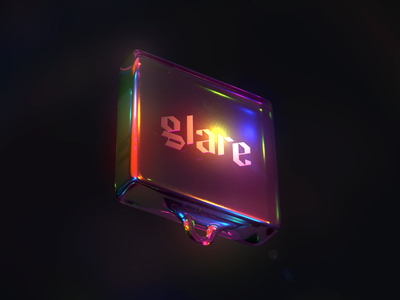 Glare techno print design glitch thin film spectrum render glass dispersion colorful arnold design c4d42 cinema4d c4d 3d art 3d illustration