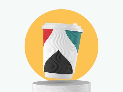 3d Cups for Sharikava brand pattern coffee shop smile render sharikava food drinks design coffeehouse coffeeshop coffee cup coffee 3d cinema4d c4d42 c4d branding animation