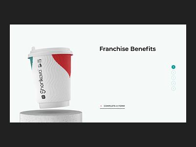 Sharikava. Scroll interaction coffee shop coffeeshop coffee cup cinema4d c4d 3d ui web design interaction scroll animation scroll coffee website animation
