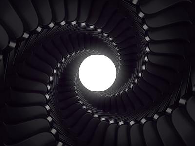 Radial Symmetry black and white 3d cinema4d c4d42 c4d symmetry design aimation print