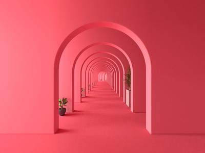 Pink-pong 3d design composition pink render cinema 4d c4d42 c4d print illustration