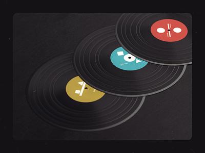 Vilnius Vinyls balance music vynil rythm composition c4d42 cinema4d c4d 3d print design illustration