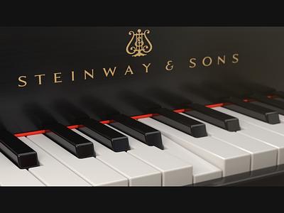Steinway & Sons rythm render piano music illustration cinema4d c4d42 c4d 3d print design