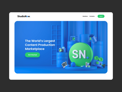 StudioNow motion product producer content production creative network brand marketplace icons 3d events video photo interaction animation web design production website web design