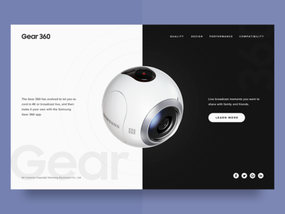 Landing Page - DailyUI #003 product samsung dailyui 003 black and white landing page clean minimal challenge ecommerce web ui dailyui