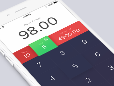 Tip Calculator dailyui 004 application app tip calculator challenge dailyui mobile phone