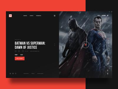 Multiplex web design red mainpage design web movies superman batman netflix dark black multiplex user interface video media movie film cinema ui minimal
