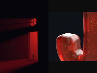 36 Days Of Type 2019. I-J animation red typography type print letters lettering letter illustration design cinema4d character c4d42 c4d art alphabet 3d 36daysoftype06 36 days of type 36daysoftype