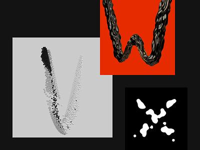 36 Days Of Type 2019. V-W-X. typography type letters lettering letter illustration design cinema4d character c4d42 c4d animation alphabet 3d 36 days of type lettering 36daysoftype06 36 days of type 36daysoftype