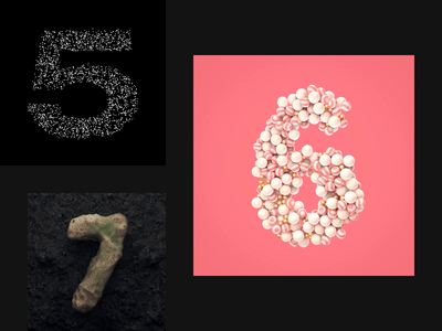 36 Days Of Type 2019. 5-6-7. animation pink typography type illustration cinema4d balls stone number character c4d42 art c4d alphabet 3d 36daysoftype06 36 days of type 36daysoftype
